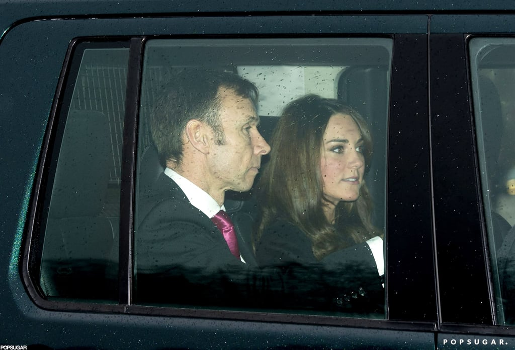 Kate Middleton arrived at a special Christmas lunch at Buckingham Palace.