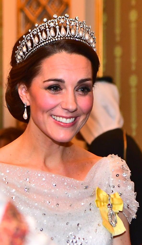Kate Middleton's Lover's Knot Tiara and Chignon, 2018