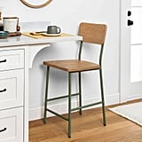 Wood and Steel Counter Stool