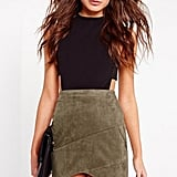 Missguided Faux Suede Wrap Miniskirt
