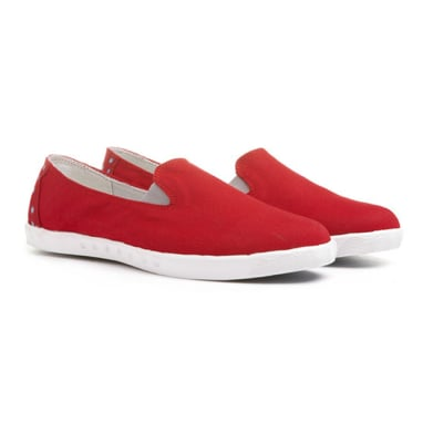 """""""I'm obsessed with these slip-ons — they're a classic take on low-tops with an all-terrain feel. You can bet I'll be wearing these all Summer long. The best part? You can throw them in the wash and they're brand new again."""" — Marisa Tom, associate editor  Blu Kicks Fiji Red Slip-On Sneakers ($58)"""