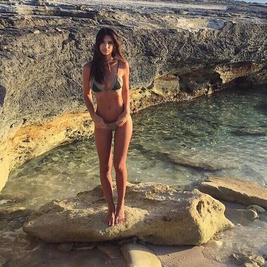 Emily Ratajkowski's Chevron Bikini