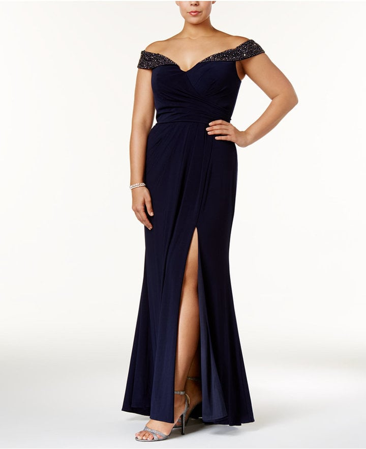 2bb46e85 Xscape Evenings Embellished Off-the-Shoulder Gown | Plus Size ...