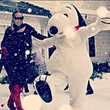 "Snoopy guest-starred in her music video for ""When Christmas Comes"" with John Legend in 2011."