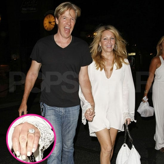 Check Out Heather Locklear's Gorgeous Engagement Ring While Out With Fiancé Jack!