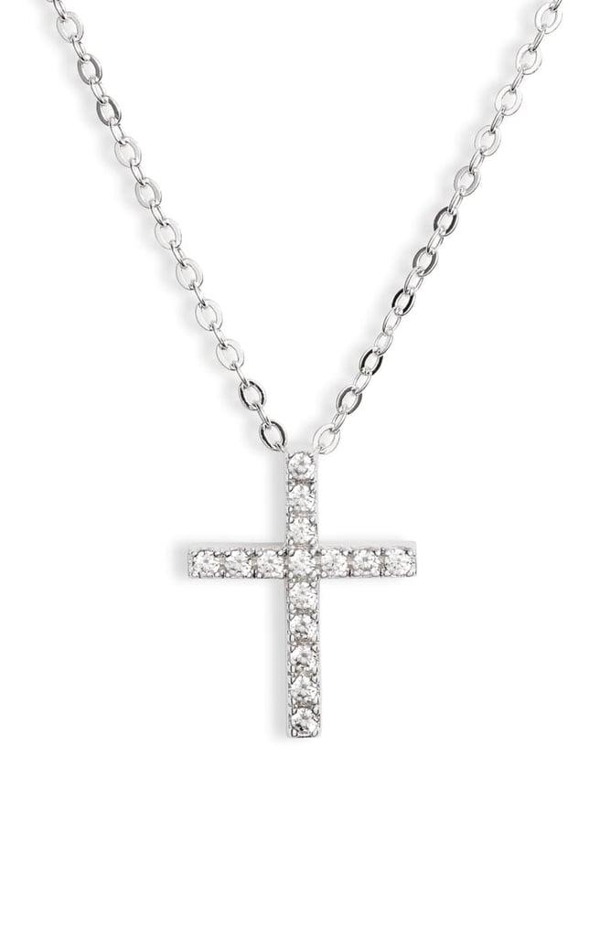 Nordstrom Cubic Zirconia Cross Necklace