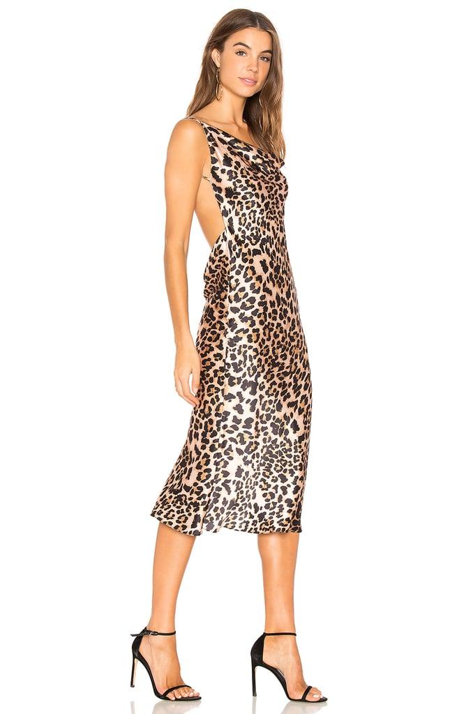Amanda Uprichard Midi Dress | Kylie Jenner Leopard Dress | POPSUGAR ...