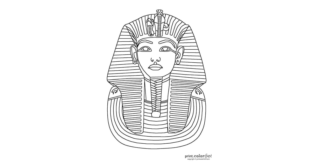 Get the coloring page King Tut  Free Coloring Pages For Adults