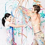 Painting Engagement Photos
