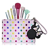 Holographic Polka-Dot Pouch With Brush Set