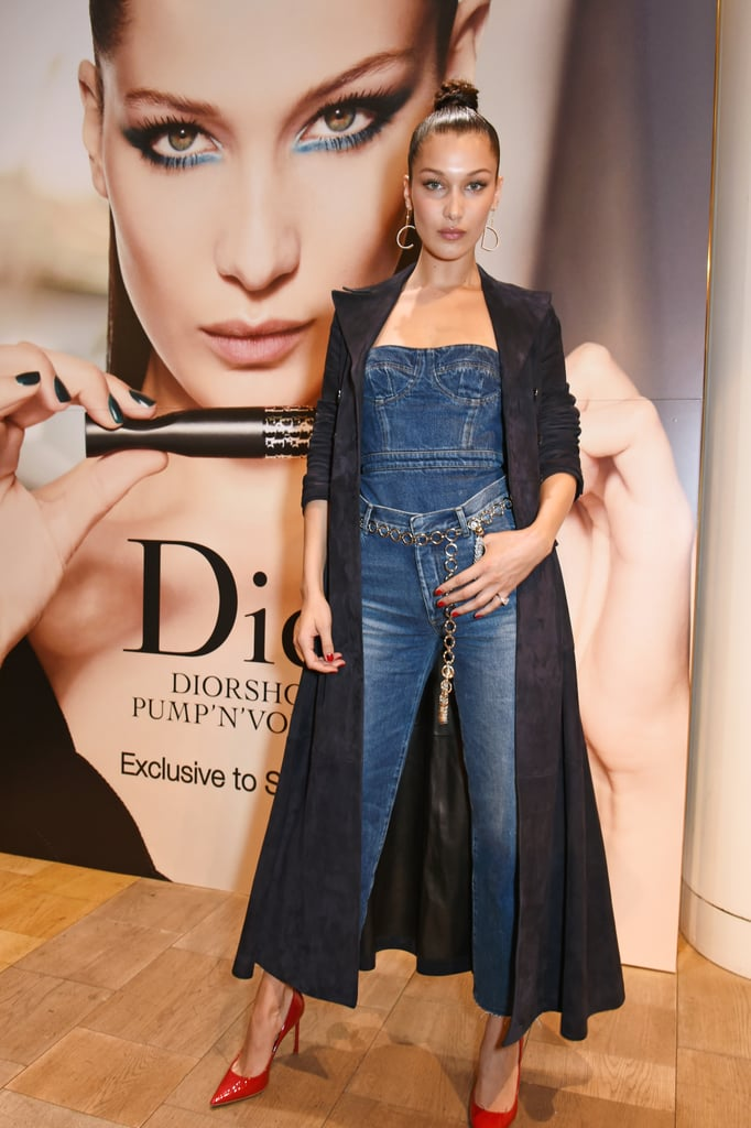Bella Hadid Proves Double Denim Is Even Chicer When It's Dior