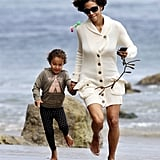 Halle Berry and Nahla Aubry played in Malibu together.
