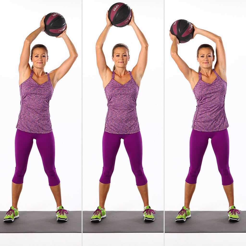 6f1e5d7aba37a Stabilizing your torso against the weight of the moving medicine ball not  only works your abs