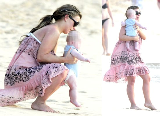 Photos of Coleen Rooney With Baby Kai in Barbados