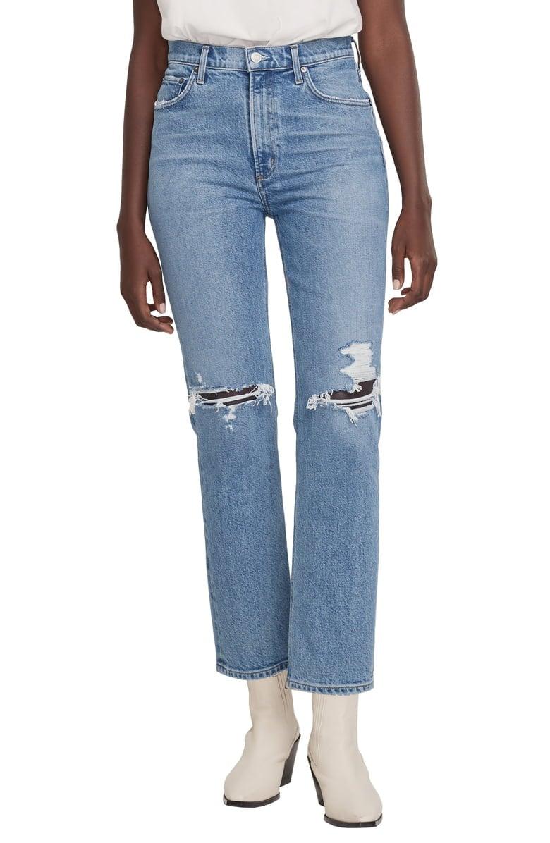 New White Stuff Dark Denim Straight Crop Summer Jeans Size 6-18