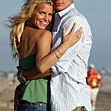 Jessica and Nick looked like Malibu Barbie and Ken during a photo shoot in August 2003.