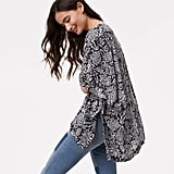 Loft Floral Kimono Jacket
