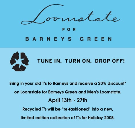 On Our Radar: Barneys Rewards Recyclers