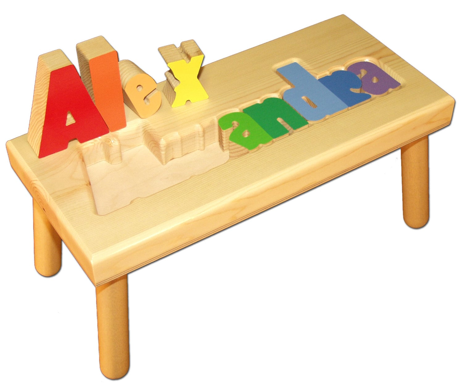 Name Puzzle Stool 43 Adorable Handmade Etsy Gifts For