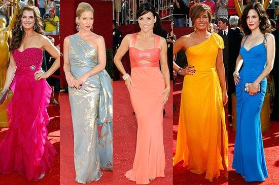 Photos of Brooke Shields, Julia Louis-Dreyfus, Mary-Louise Parker, Christina Applegate, Mariska Hargitay at Emmys