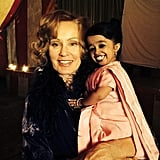 And finally, Murphy shared a picture of Jyoti Amge, the newest cast member, with star Jessica Lange.