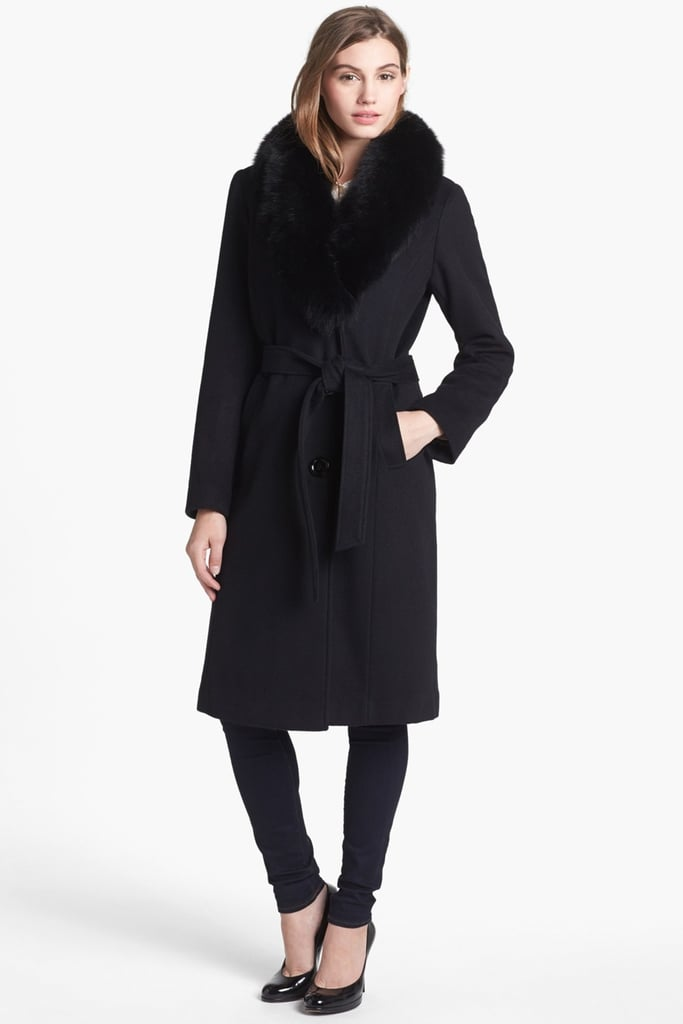 3bb1a82b8fc0 Ellen Tracy Genuine Fox Fur Collar Wool Blend Coat ( 750)