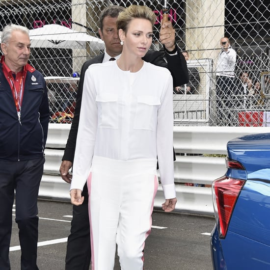Charlene of Monaco's Jumpsuit at Grand Prix 2016