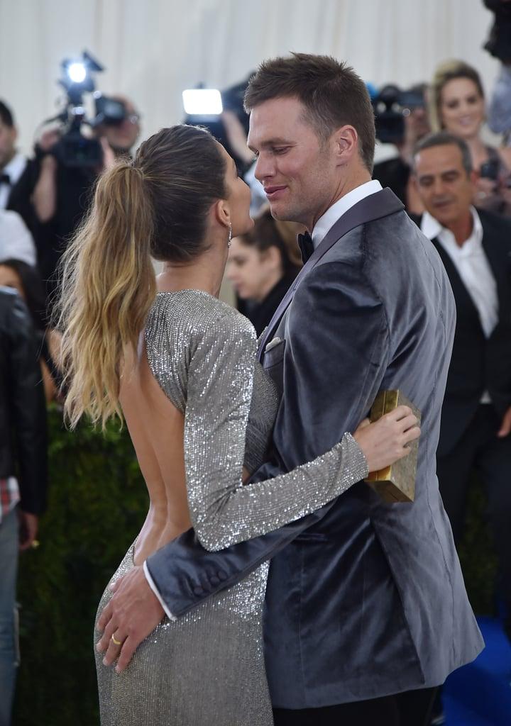 Gisele Bundchen and Tom Brady at the Met Gala 2017 ...