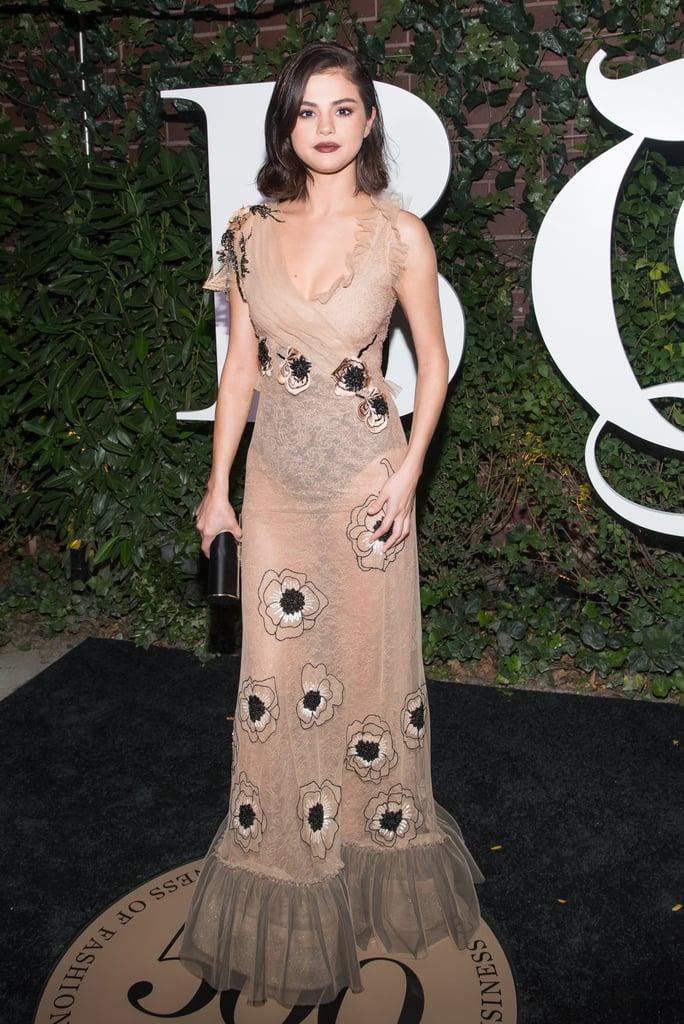 Selena Gomez Rodarte Dress at Business of Fashion Gala