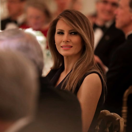 Melania Trump Black Dress at Trump Hotel in New York