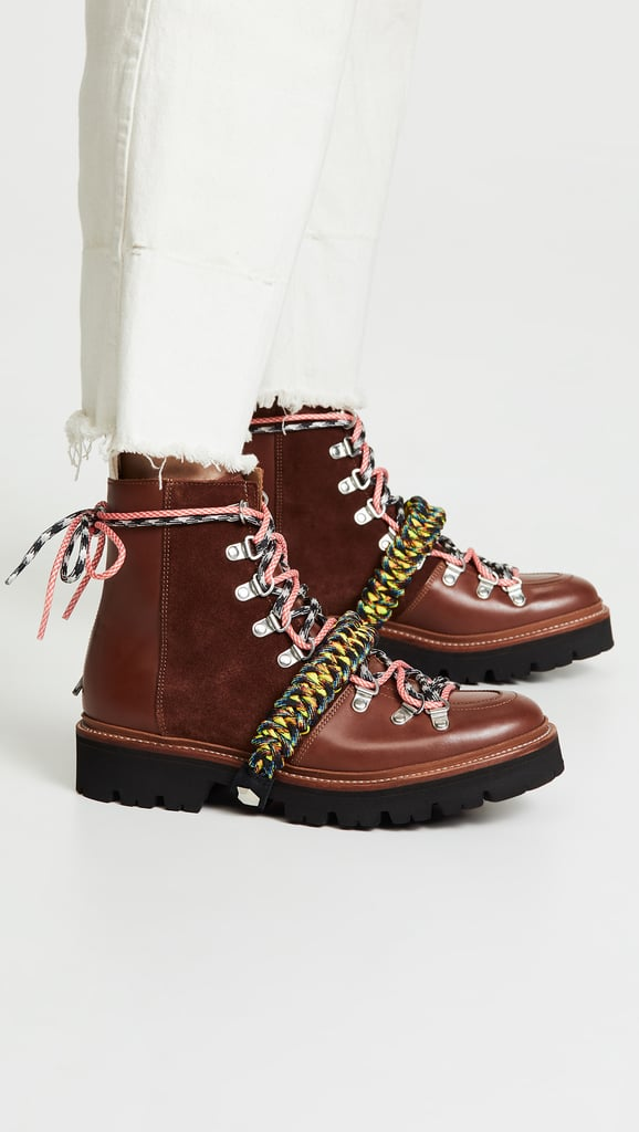 a8154e07fe93 Hailey's Grenson x House of Holland Vivid Combat Boots in Brown ...