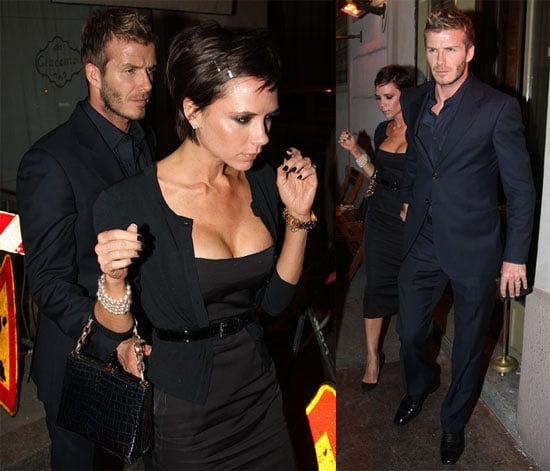 Photos of Victoria Beckham and David Beckham in Milan