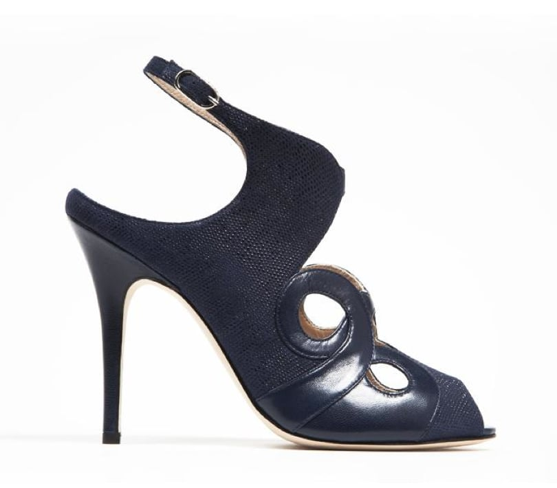 Monique Lhuillier Midnight Kid/Piper Combo Sandal ($890)