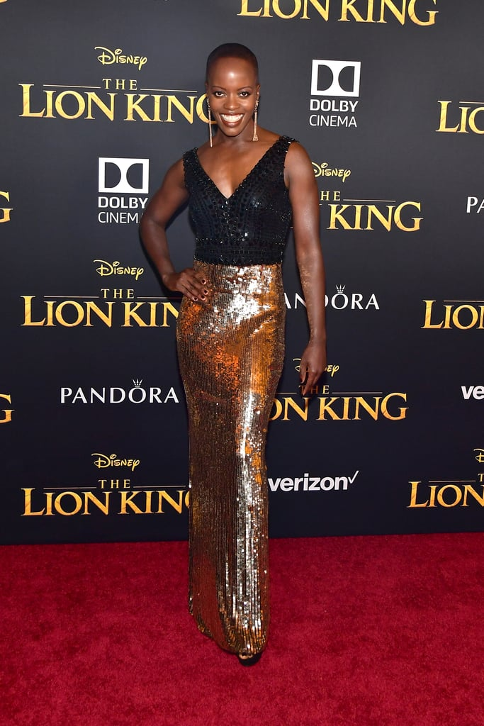 Pictured: Florence Kasumba at The Lion King premiere in Hollywood.