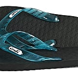 Locals Black with Turquoise Strap Slipper