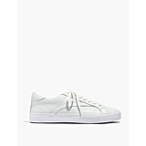 Low-Top Leather Sneakers in Pale Parchment