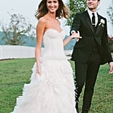 Kings of Leon's Jared Followill married a Monique Lhuillier-clad Martha Patterson in Charlotte, TN, in September 2012.
