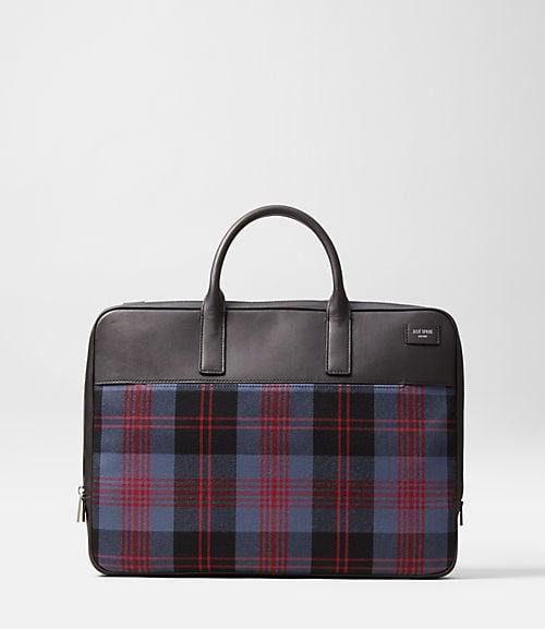 Jack Spade Plaid Briefcase
