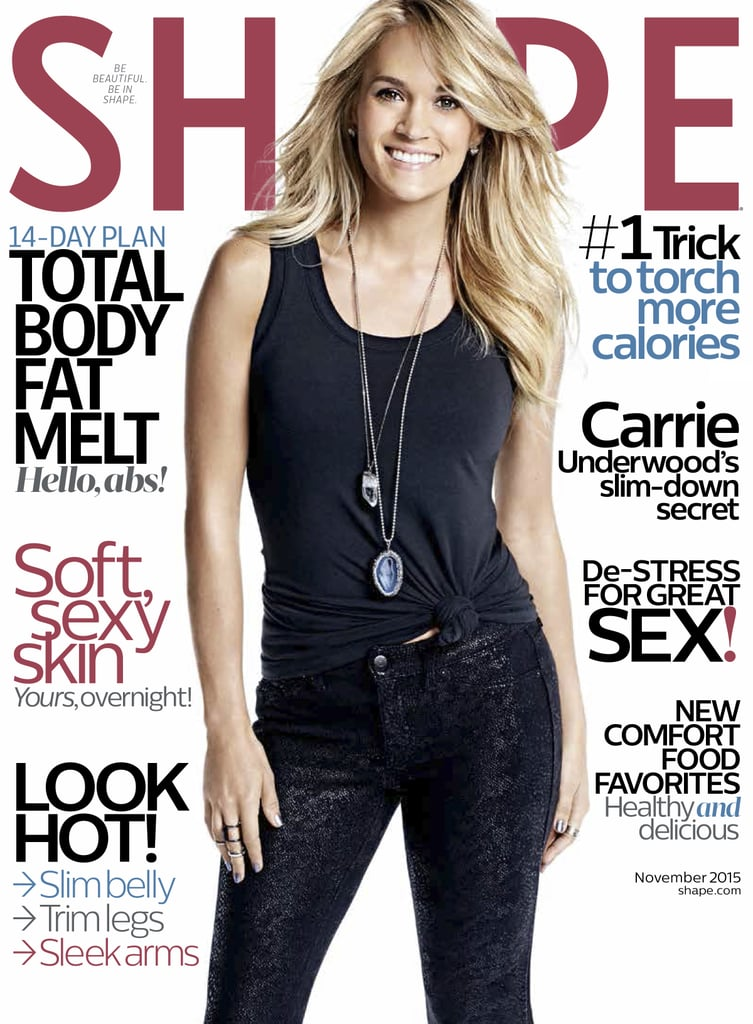 carrie underwood shape magazine