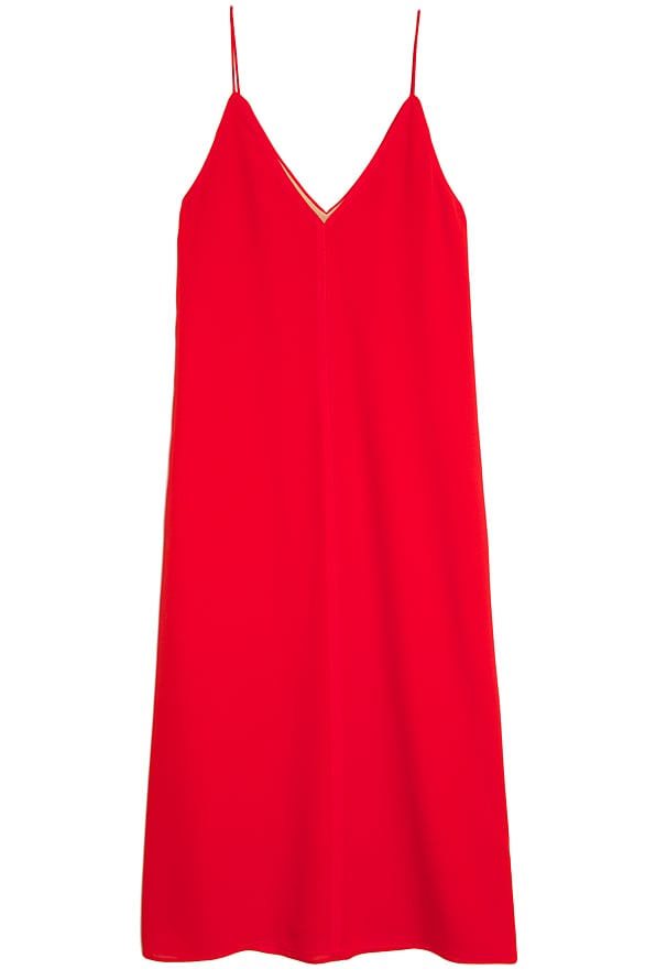 You can never do wrong in this T by Alexander Wang Red Silk Slip Dress ($206, originally $295). This effortless dress can be styled numerous ways, and the bold red hue is stunning.