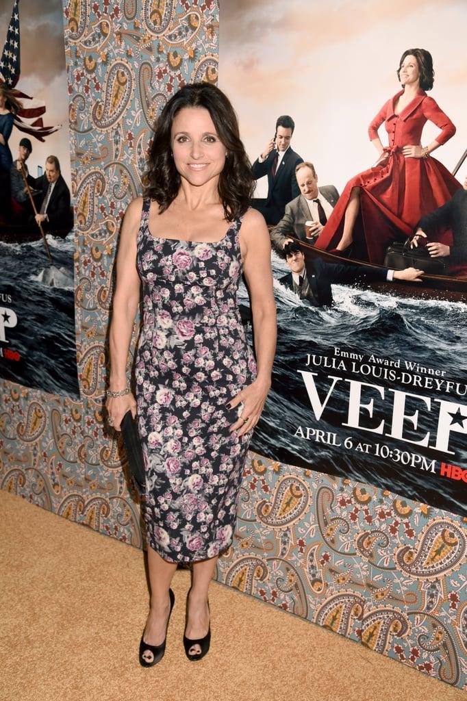 Julia Louis-Dreyfus premiered Veep's third season in LA on Monday.