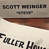 Scott Weinger announced his involvement in the project by sharing a photo of his script and place card.