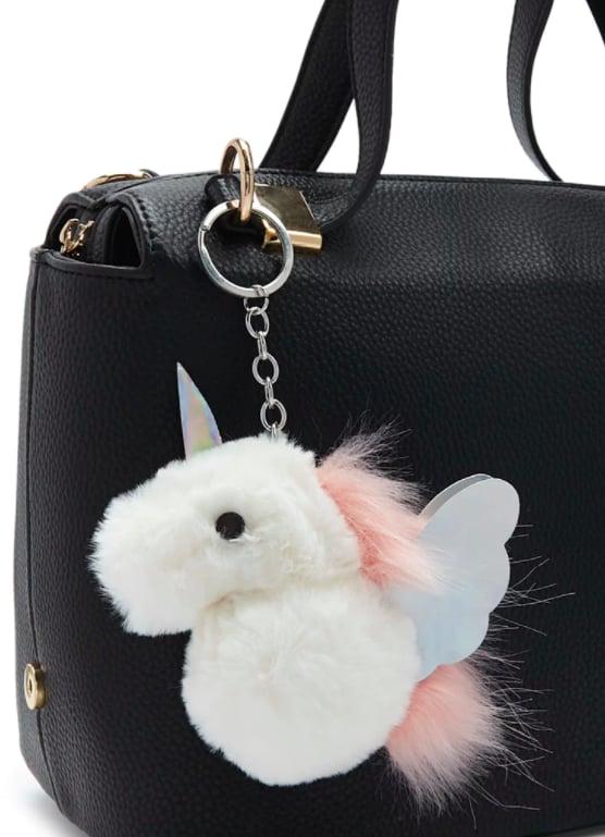 Faux Fur Unicorn Keychain