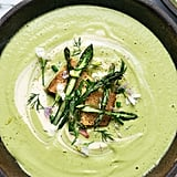 Cashew Cream of Asparagus and Spring Onion Soup