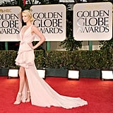 Charlize Theron at the Golden Globes.