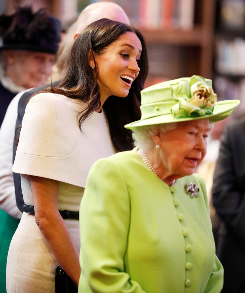 Queen Elizabeth II And Meghan Markle Cheshire Visit