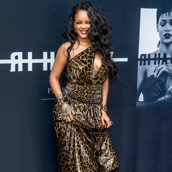 Rihanna Celebrates Her Book Launch in a Leopard Dress