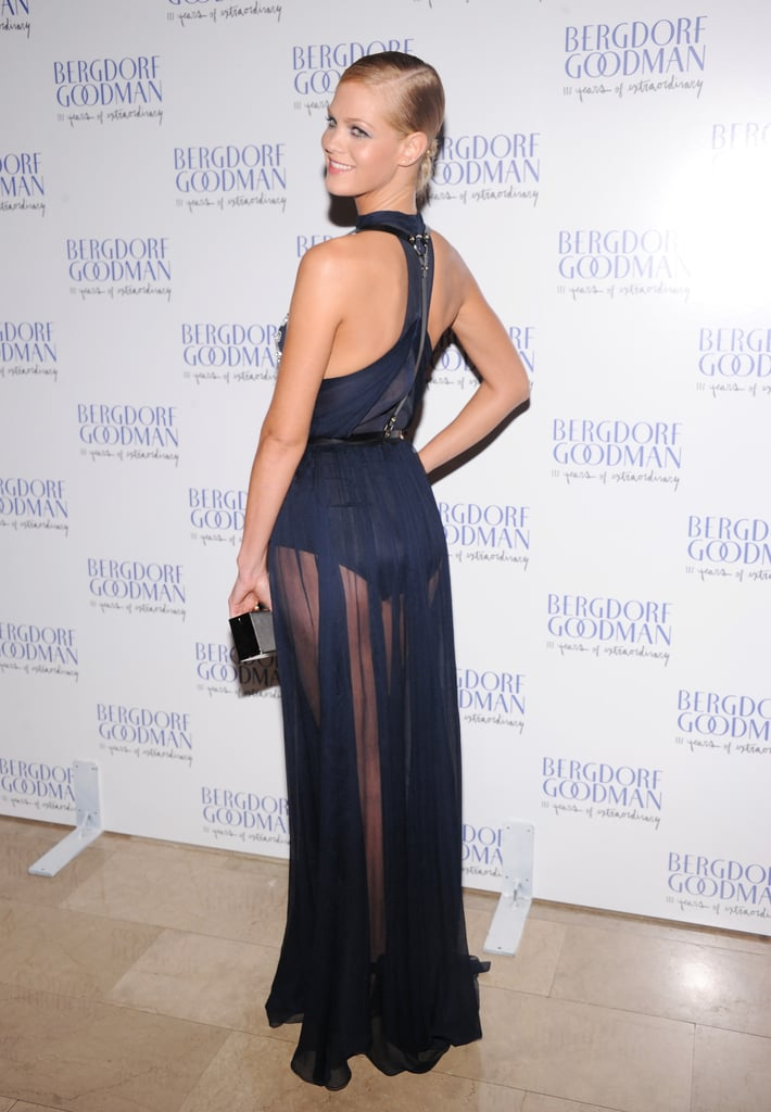 Erin Heatherton showed off her sexy back in a gorgeous Jason Wu gown.