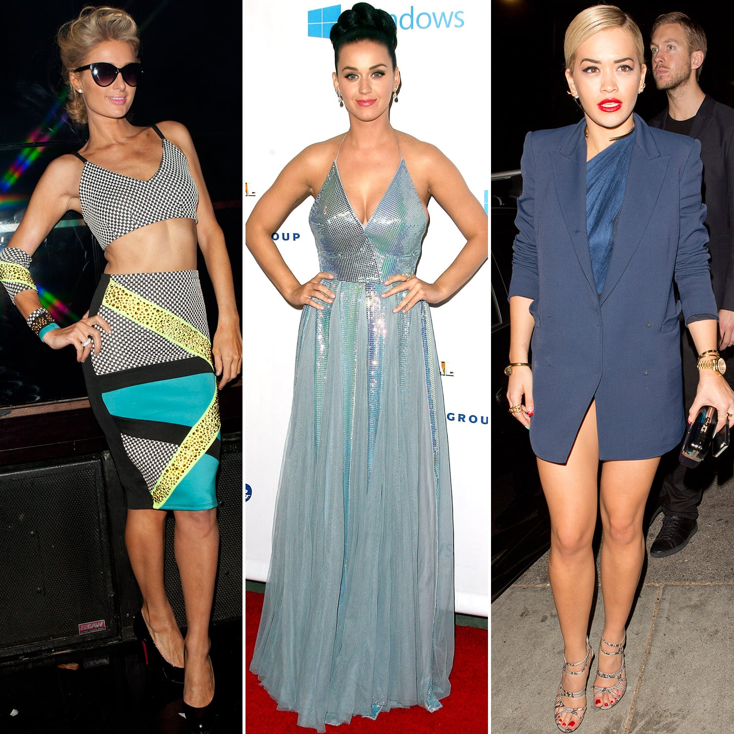 Katy Perry in Blue Dress at Grammys Afterparty | Grammys 2014 ...