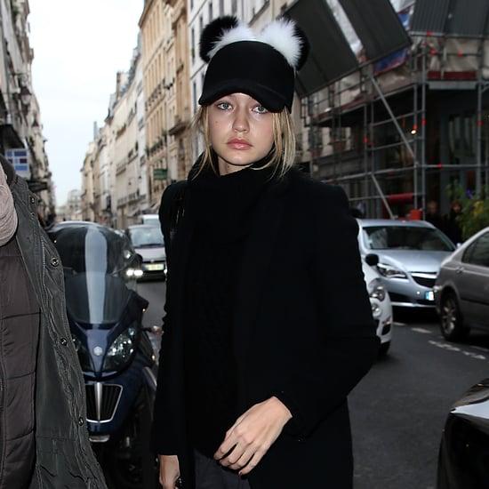 Gigi Hadid's Pom-Pom Hat